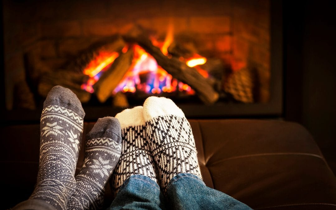 prepare your fireplace so it will be ready for cooler evenings