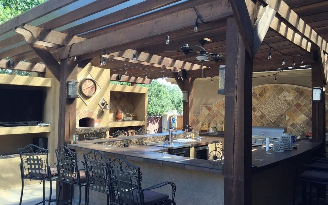 create an attractive outdoor kitchen